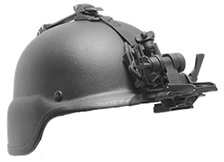 Advanced Flip-Up Helmet Mount GSCI HM-714XM-C with straps. Lightweight and Durable, available with PVS and Dovetail type brackets. Flip-Up off.