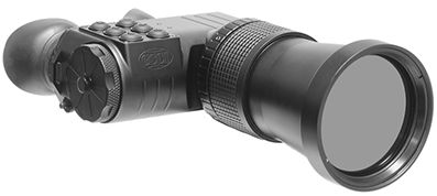 Long-Range Thermal Binoculars GSCI UNITEC-B100. Canadian, ITAR-Free, exportable worldwide. 640x480 and 384x288 FPA @ 50Hz. Lens size 100mm.