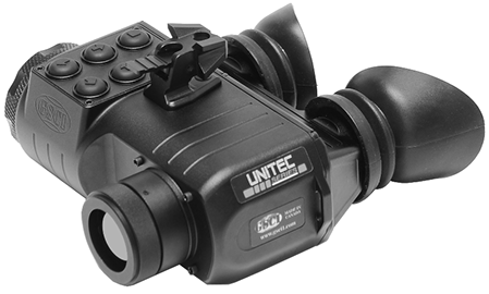 Lightweight Rugged Thermal Imaging Goggles GSCI UNITEC-G. ITAR-Free, exportable worldwide. 640x480 and 384x288 FPA @ 50Hz refresh rate.