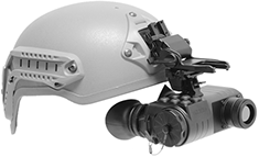 Lightweight Rugged Thermal Imaging Goggles GSCI UNITEC-G. Helmet mounted operation. ITAR-Free, exportable worldwide. 640x480 and 384x288 FPA.